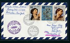 96822) Belgien SABENA FF Brüssel - New York 8.1.71, Brief ab Vatikan