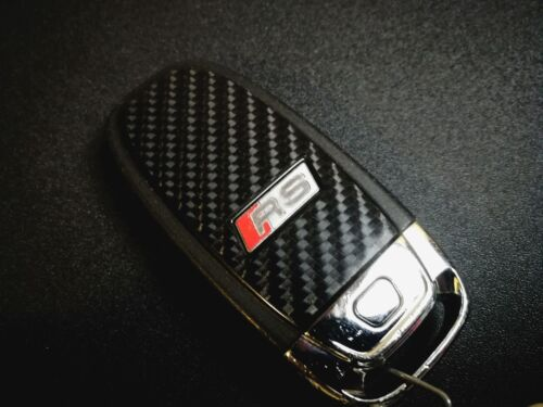 A4 S4 RS4 RS5 RS6 Q7 etc Audi Key Fob Cover Case Protector Carbon Vinyl Skin