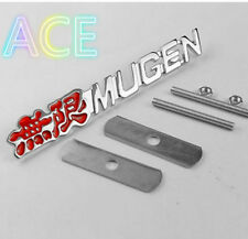 Mugen Chrome Grill Badge red Lettering Brand New S2000 Civic Type R Integra