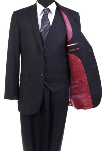 MODERN ULTRA SLIM FIT MEN/'S TONE ON TONE SUIT FORMAL PROM DANCE GROOMSMEN OFFICE
