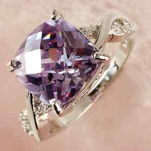Women-ELEGANT-Ring-Tourmaline-White-Topaz-Gemstone-Silver-Jewelry-Size-6-7-8-9