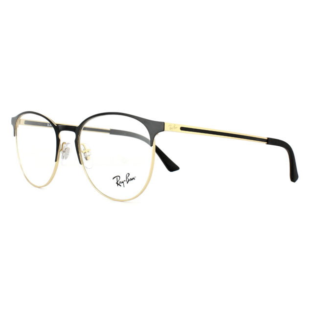 Ray-Ban Glasses Frames 6375 2890 Gold Top on Black 51mm