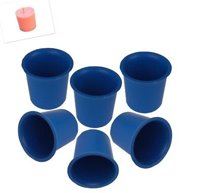 S7619 UK Made Craft 2 x Seamless Votive Candle Making Moulds Rigid Plastic