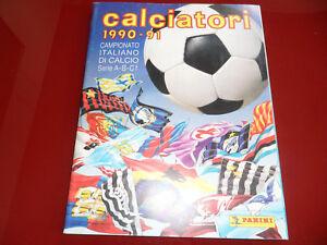 Album-Figurine-Calciatori-Panini-1990-91-Q-Vuoto-Edicola-con-Cedola