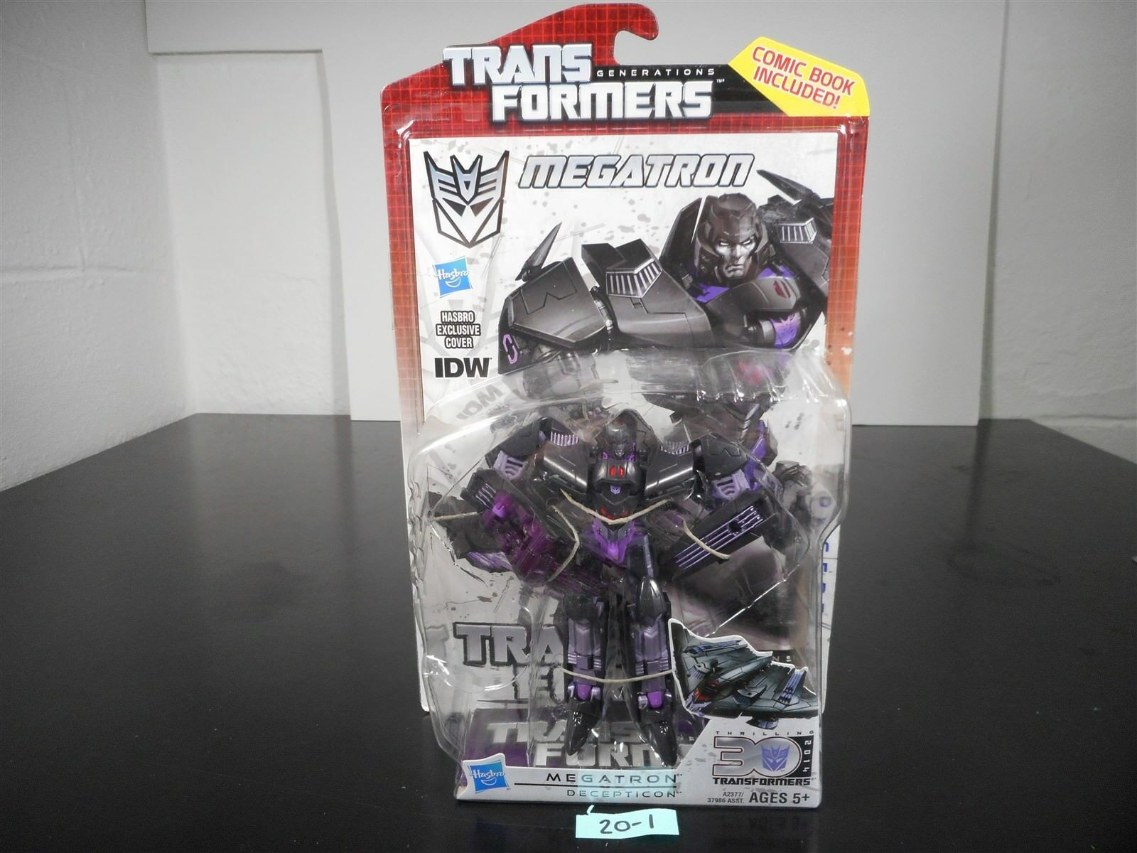 NEW & SEALED TRANSFORMERS GENERATIONS IDW MEGATRON DELUXE FIGURE 30TH ANN 20-1