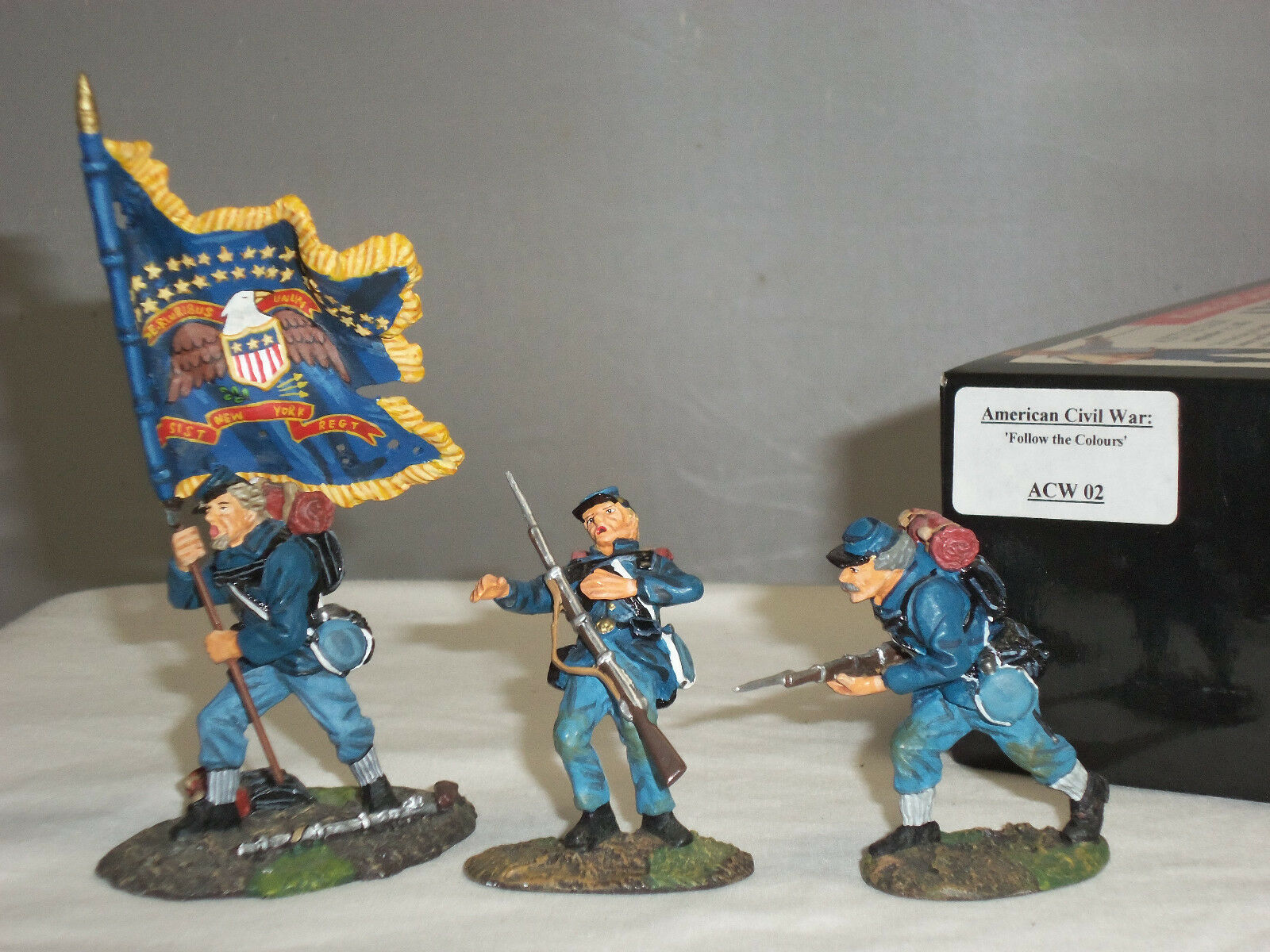 KING AND COUNTRY ACW02 FOLLOW THE COLORS AMERCAN CIVIL WAR TOY SOLDIER SET