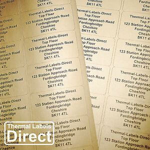 Details about 1000 x Personalised GOLD Printed Sticky Address Labels  Stickers GOLD_65_001