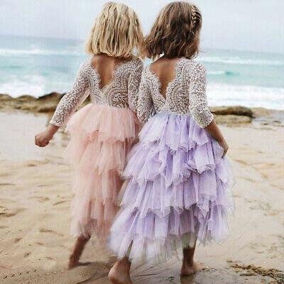 Lavender /& White Princess CoutureGreat for Birthdays Flower Girl Tutu Dress Shabby Chic Wedding