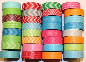 Washi-Tape-Geometric-10-m-Roll-Decorative-Sticky-Paper-Masking-Tape-Adhesive