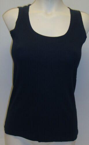 Damen Top Sommershirt Shirt in Rippenoptik dunkelblau Baumwolle S M