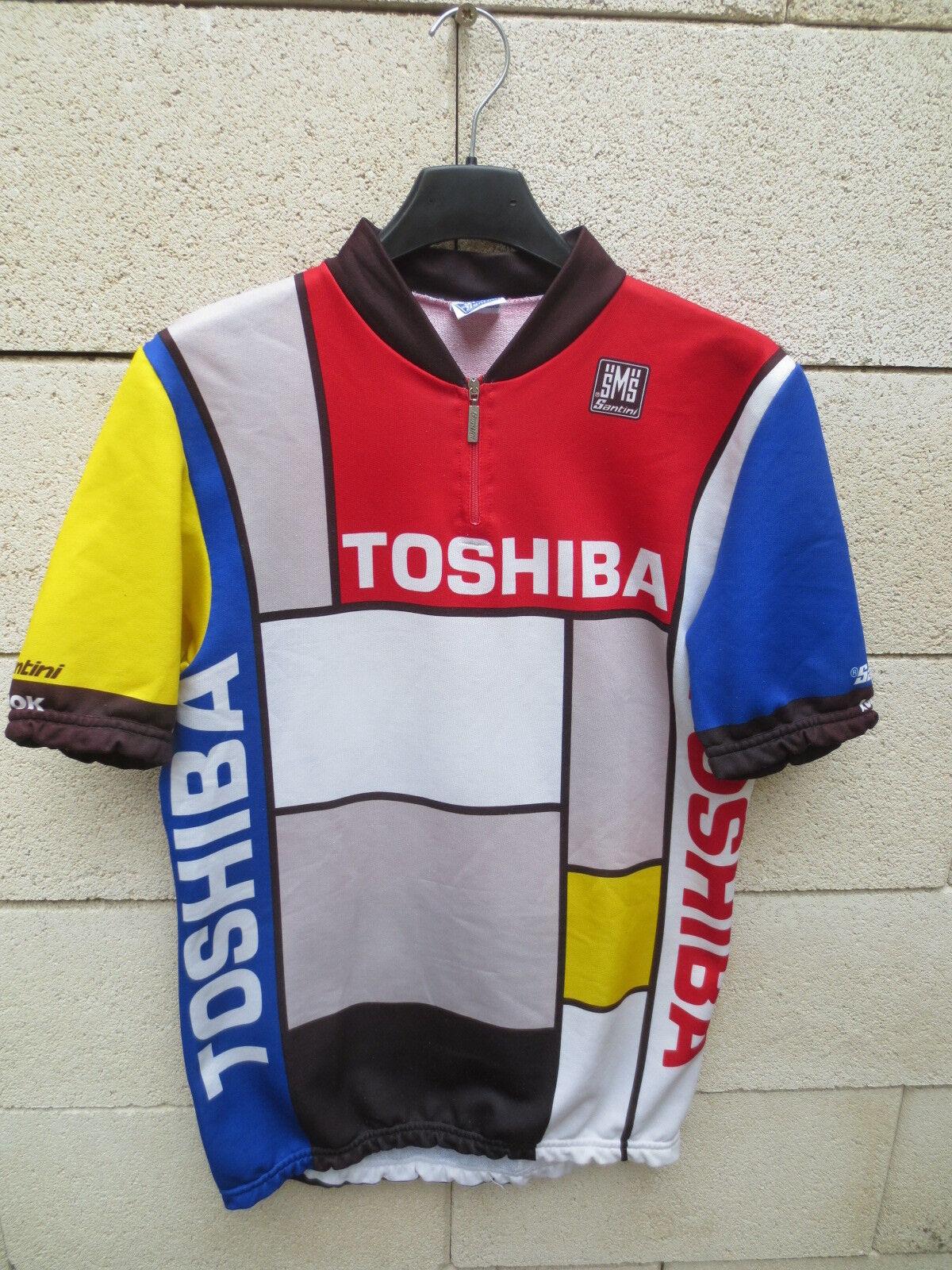 VINTAGE Maillot cycliste TOSHIBA Tour 1988 MADIOT LEblanco shirt maglia camsieta