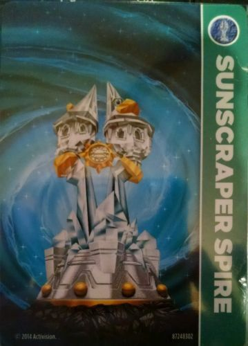 Sunscraper Sunscraper Sunscraper Spire Skylanders Trap Team Stat Card Only b944b1