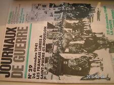 ** Journaux de Guerre n°29 Français libres à Saint Pierre et Miquelon