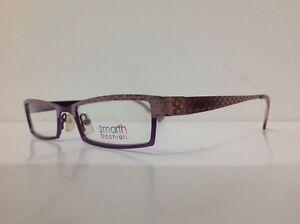 Smarth-occhiale-da-vista-Made-Italy-Metallo-Viola-Rosa-Rettangolare-Particolare