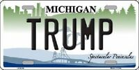 Trump Michigan Novelty Metal License Plate