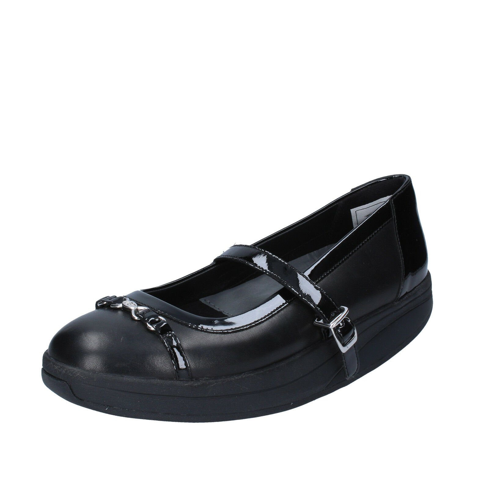 Scarpe donna MBT 37 EU ballerine nero pelle vernice BY966-37