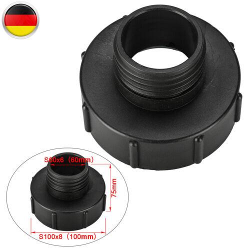 60mm Auf Reduzierung S60x6 Für Tank Behälter Zubehör IBC Adapter S100x8 100mm
