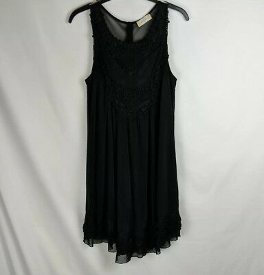 Altar D State Black Shear Dress With Black Lace Detail