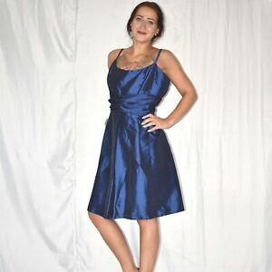 nachtblaues satin minikleid* l * cocktailkleid* abendkleid
