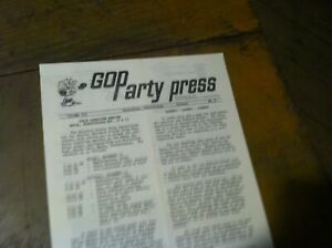 VINTAGE-HISTORICAL-GOP-PARTY-PRESS-NEWSLETTER-60S-LATE-50S-20-298