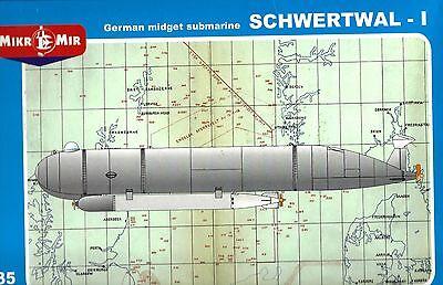 """MIKROMIR 35-016 1:35 German Midged Supmarine """"Schwertwal-1"""""""