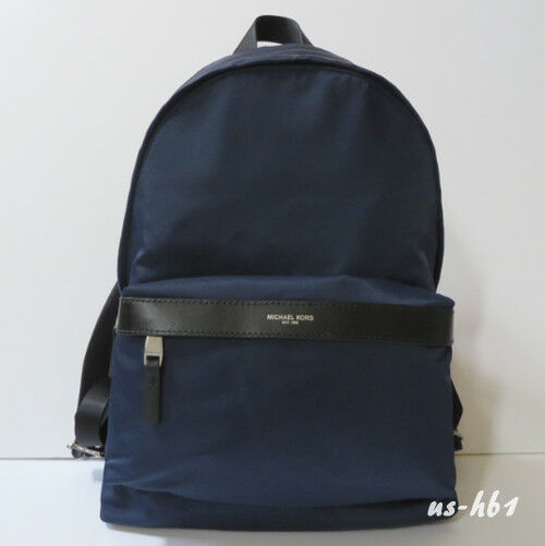 Michael Kors Kent Nylon Backpack For Work School Office Travel 37h6lknb2c Indigo Ebay
