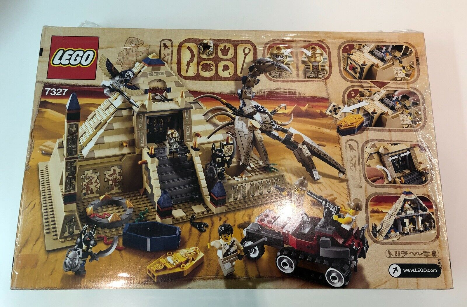LEGO Pharaoh's Quest   7327 - Scorpion Scorpion Scorpion Pyramid - NEUF NEW SCELLÉE SEALED 672342