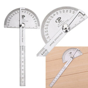 Stainless-Steel-180-Degree-Protractor-Gauge-Angle-Finder-Rotary-Measuring-Ruler