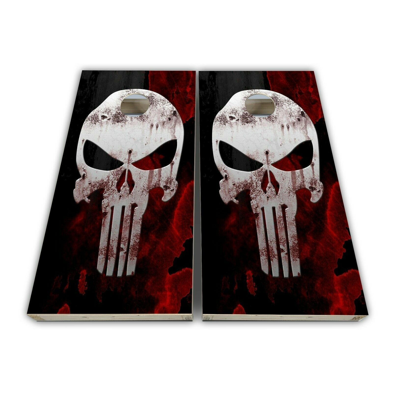 Skull Cornhole Decal Laminated  3M Vinyl Cornhole Wrap SET  save 60% discount and fast shipping worldwide