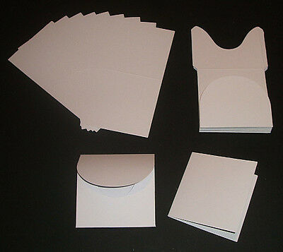 Wedding Save the Date Card Blanks & Pocket Fold Envelopes x 10 in white