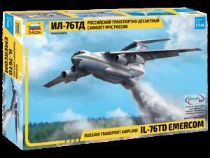1 144 ZVEZDA 7029 IL-76TD model kit NEW
