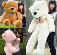 Unused Bright 80/100cm Hairy Giant Big Plush Stuffed Teddy Bear Soft Cotton Toys
