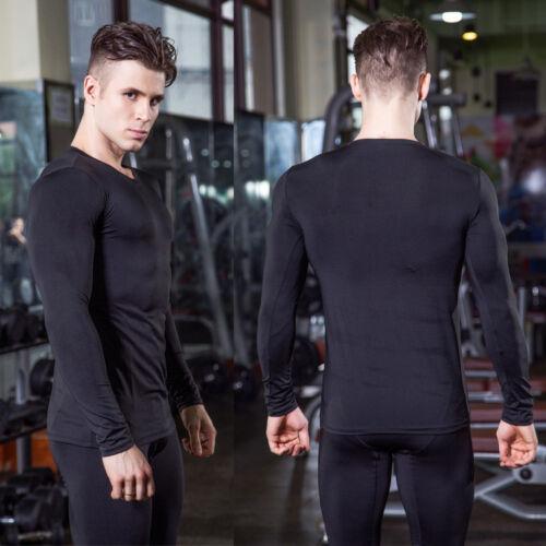 Men Long Sleeve  Gym Sports Running Cycling T-Shirt Workout Wicking Tops