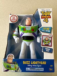 "Disney Pixar Toy Story 4 Buzz Lightyear 12"" Talking Action Figure 20 Sounds"