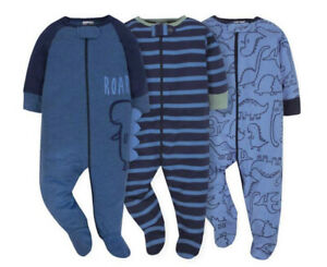 Gerber Baby 3-Pack 'Sleep-n-Play' Long Sleeve Sleepers—Boy or Girl: Choose Size