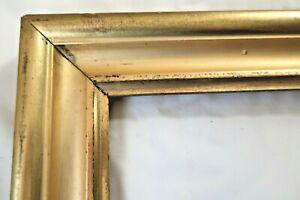 Antique Fits 12 X 16 Lemon Gold Gilt Picture Frame Wood Gesso Fine Art Country
