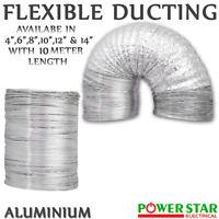 Fan Duct Aluminium Foil Flexible Air Ventilation Hose Hydroponics Grow Room