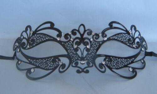 Black Filigree Metal Venetian Party Masquerade Mask No 16 NEW *