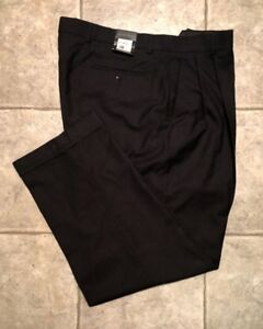 KENNETH-ROBERTS-Mens-Black-Casual-Pants-Size-38-x-30-NEW-WITH-TAGS