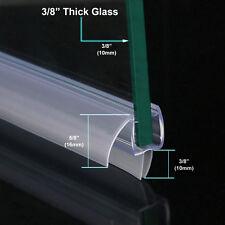 "3/8"" FRAMELESS GLASS SHOWER DOOR BOTTOM SEAL SWEEP DRIP RAIL CLEAR PLASTIC 36"""