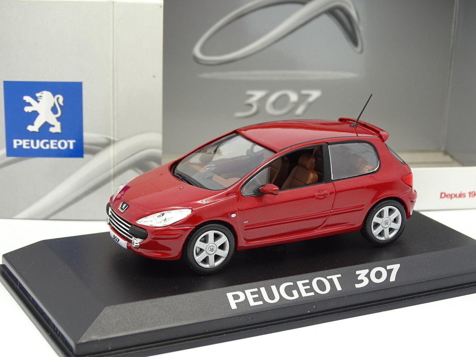 Norev 1 43 43 43 - Peugeot 307 3 Puertas red bedff6
