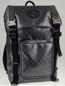 9ab927c4b4cf Image is loading RARE-Authentic-Gucci-Silver-GG-Coated-Canvas-Interlocking-