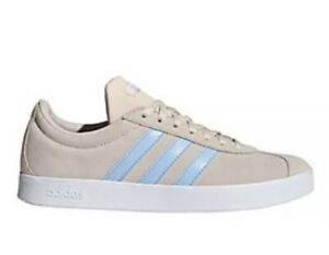 legal Prefacio Autonomía  Adidas VL Court 2.0 Linen Glow Blue Cloud White Suede Womens 7.5 Sneakers  EE6787 | eBay