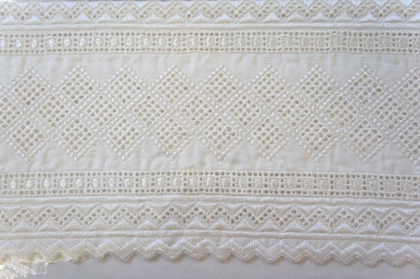 4pc York 100% Cotton 270TC Weiß Ivory Embroiderot  Sheet Set Queen King CalK