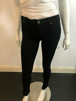 Women's Clothing Have An Inquiring Mind Citizens Of Humanity 129219 Nwt Black Avedon Slick Low Rise Skinny Jeans Sz 27 Jeans