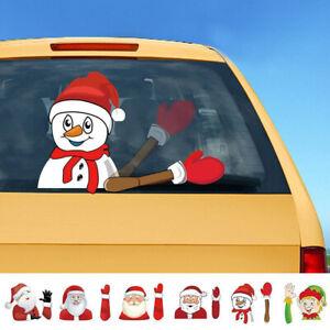Details Zu Weihnachten Heckscheibe Weihnachtsmann Fensteraufkleber Auto Wischer Aufkleber