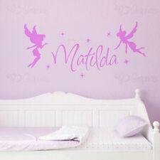 Nome Personalizzato Fata Wall Art Ragazze Camera Bambini Adesivo FATE