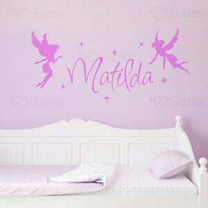 Image is loading Personalised-Name-Fairy-Wall-Art-Girls-Room-Childrens- & Personalised Name Fairy Wall Art Girls Room Childrens Kids Fairies ...