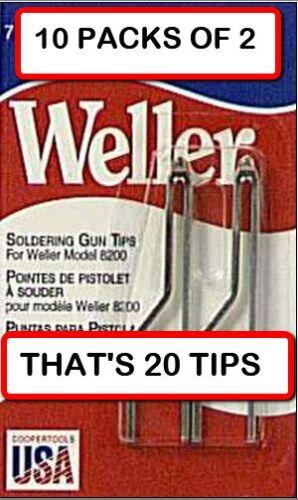 2 per Pack 10 PACKS WELLER 7135W  Solder Tip Replacement for 8200 Solder Gun