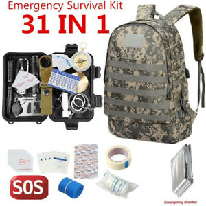 30in-1-SOS-Box-Uberleben-amp-Notfallset-Reisen-Survival-Kit-Survival